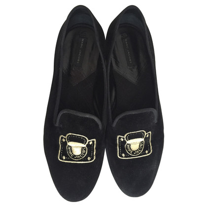 Marc Jacobs Fluweel slippers met logo