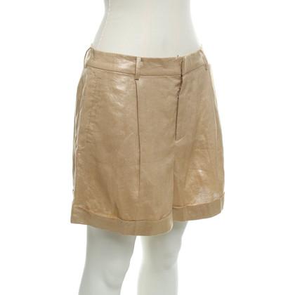 Ralph Lauren Goldfarbene Shorts aus Leinen