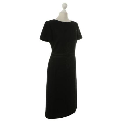 Rena Lange Zwarte jurk met toepassing