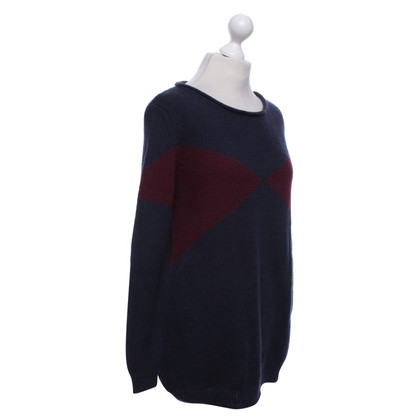 Jil Sander wool jumper in bicolour