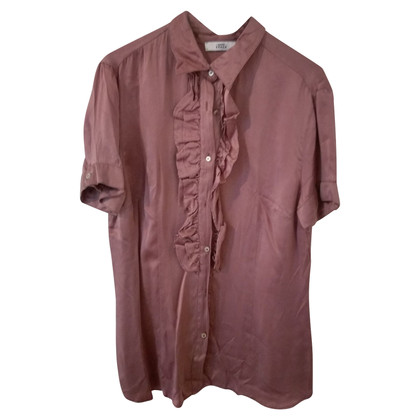 0039 Italy Silk blouse in blush pink
