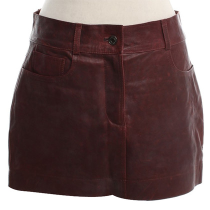 Dolce & Gabbana Leather skirt in Bordeaux