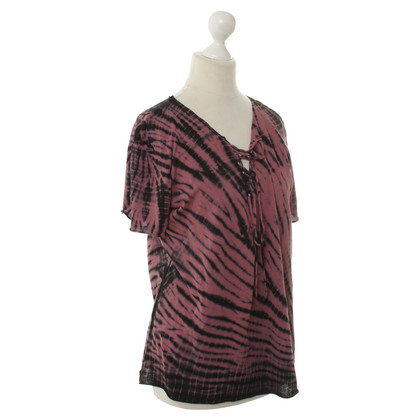 Maje T shirt with batik patterns