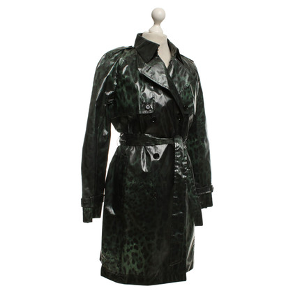 Dolce & Gabbana Raincoat with leopard print