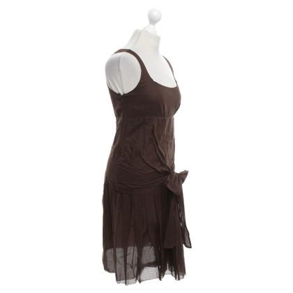 Céline Baumwoll-Kleid in Braun
