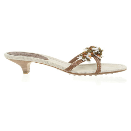 Car Shoe Sandalen met bloemtoepassing