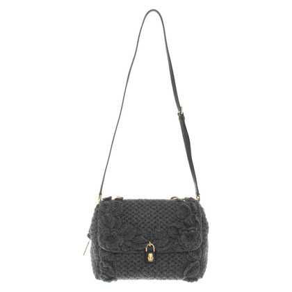 Dolce & Gabbana Handbag with knit trim