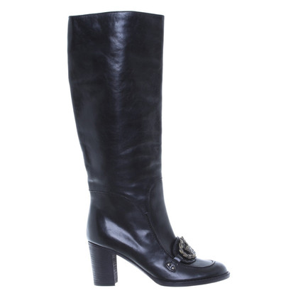 Anna Sui Black boots with detail