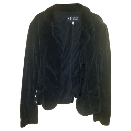 wholesale price cheaper classic Armani Jeans Jacke/Mantel aus Baumwolle in Blau - Second ...