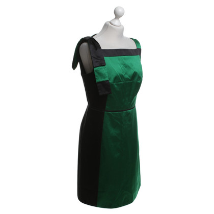 Karen Millen Dress in green / black