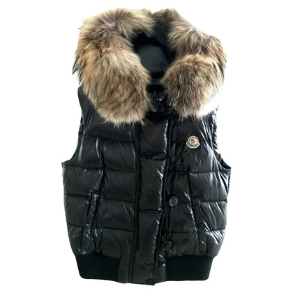 Moncler Jacket vest with fur trim