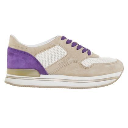 Hogan Plateau-Sneakers in Beige/Violett