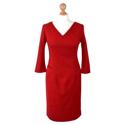 Goat Robe en laine en rouge