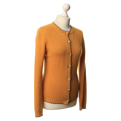 Bruno Manetti Cardigan in giallo Curry