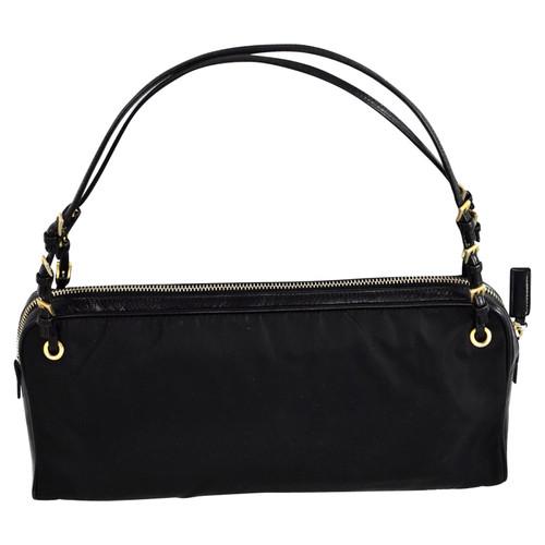 00816c1e4ed8db Prada Clutch Bag Canvas in Black - Second Hand Prada Clutch Bag ...