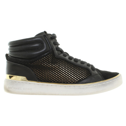 Michael Kors Sneakers in zwart / Gold