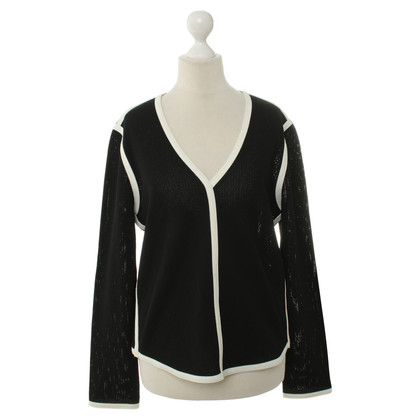 Marc Cain Black sweater with decorative stitching