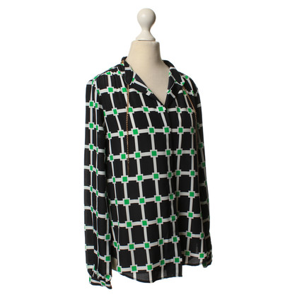 Michael Kors Blouse in blue graphic pattern