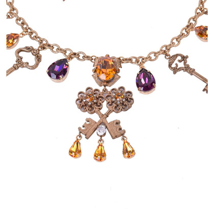 Dolce & Gabbana Chiave e cristalli Collier