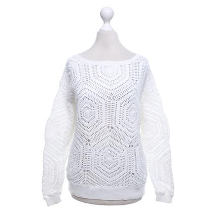 Closed Gehaakte trui in wit