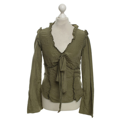 Moschino top in olive green