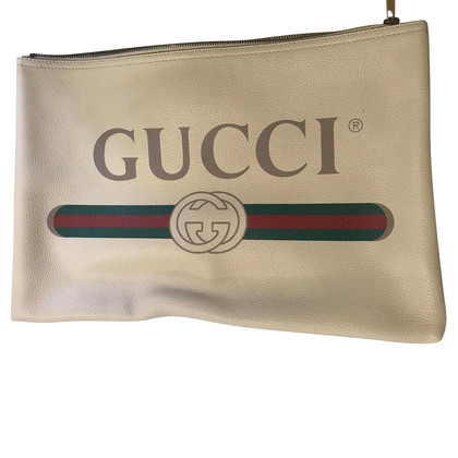 Gucci Clutch mit Logo-Print