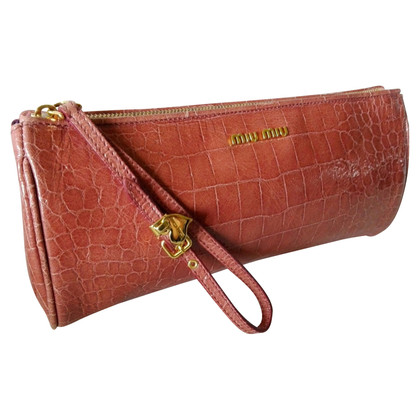 Miu Miu Clutch in Reptil-Optik