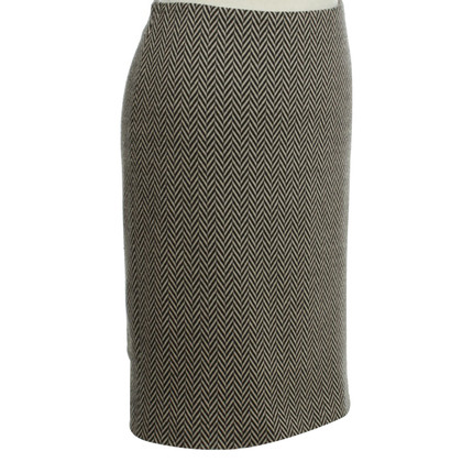 Armani skirt herringbone pattern