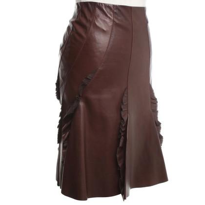 Roberto Cavalli skirt made of leather