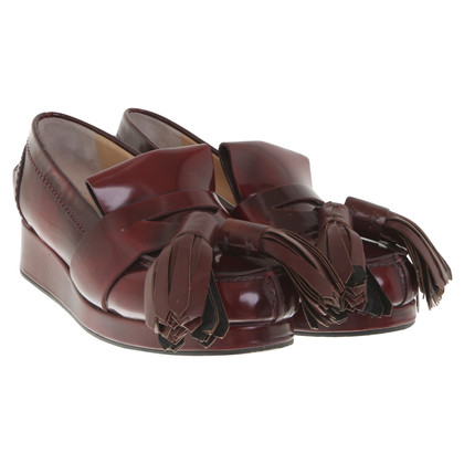 Acne Slipper a Bordeaux