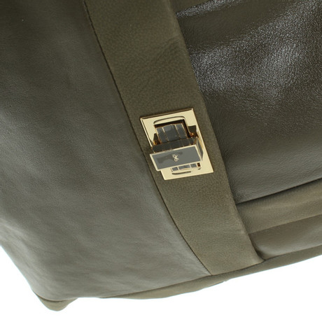 Anya Hindmarch Lederhandtasche in Grün Oliv Billig Verkauf 100% Garantiert pB8el