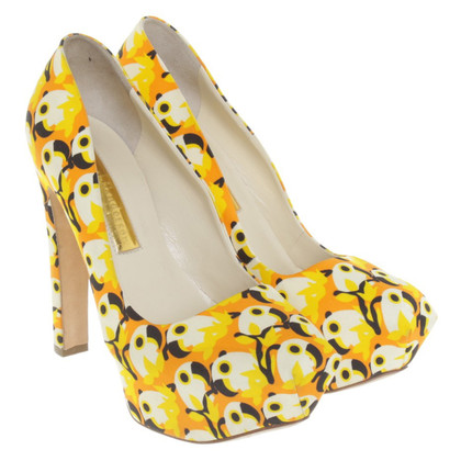 Rupert Sanderson Plateau-Pumps in retro-look