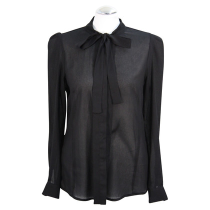 French Connection Transparante blouse in zwart