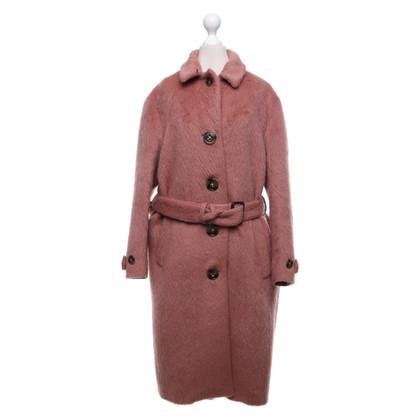 Burberry Cappotto di lana in rosa antico