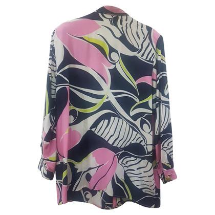 Marina Rinaldi Silk blouse with pattern