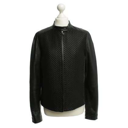 Max Mara Leather jacket in black