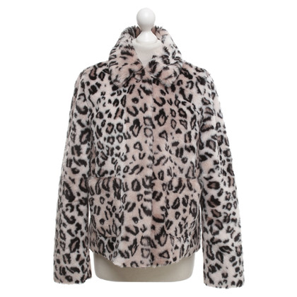 Rebecca Taylor Faux fur jacket with pattern