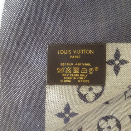 Louis Vuitton Châle Monogram Denim Blue