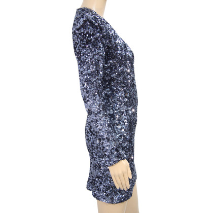 French Connection Sequined dress in dark blue