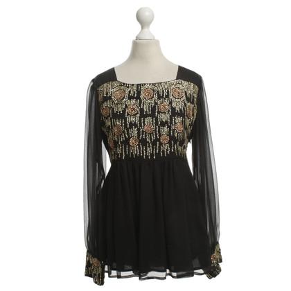 Antik Batik Bluse aus Seide