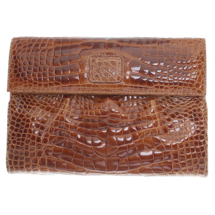 Gucci clutch reptile leather