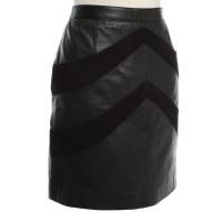Maje Lederen rok in zwart