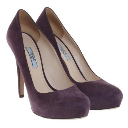 Prada pumps in violet