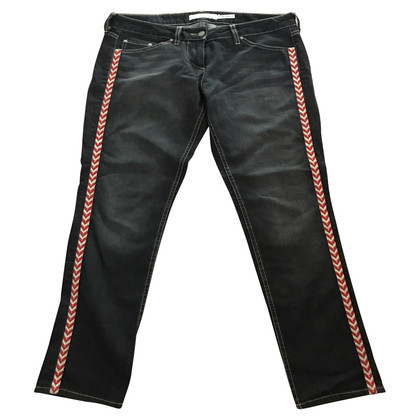Isabel Marant Etoile Black embroidered jeans