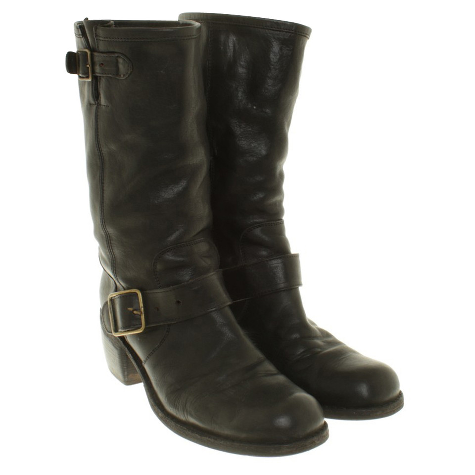 fiorentini baker biker boots in black buy second hand fiorentini baker biker boots in. Black Bedroom Furniture Sets. Home Design Ideas