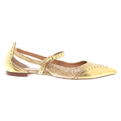 Tory Burch Sling ballerina's in goud