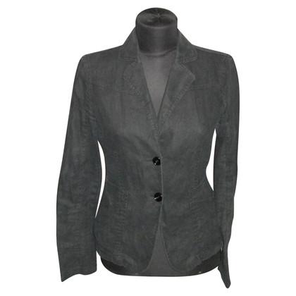 Armani Jeans Blazer di lino in nero