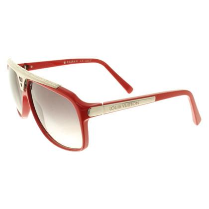 Louis Vuitton Sonnenbrille in Rot