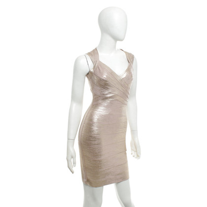 Hervé Léger Dress in nude / gold