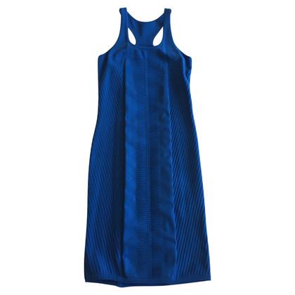 Versace Gebreide jurk in blauw